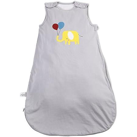 i-baby Saco de Dormir Infatil Bebé Niños Niñas 1.5 TOG Sin Mangas Bolsas de Dormir Suenos Pijama Mantas de Algodón Recubierto con Cremallera para 1 2 ...