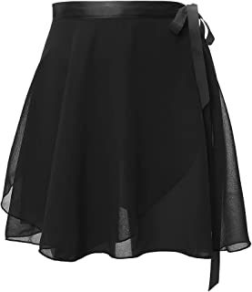 Girl's Women's Ballet Skirt Wrap Chiffon Over Scarf with Waist Tie