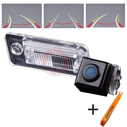 Kalakus nachtzicht reversing track camera, liniaal lijn met het stuur bewegen achteruitrijcamera voor Audi A3/S3/A3 / A4/S4/A6 (4F)/ A8 (S8)/ Q7/S6/RS4 Cabrio/ RS6 Plus