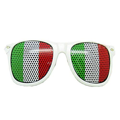 Newin Star Fan Brille Sonnenbrille Gläser mit nationalen Flagge von Italien für Fans des Fußballs Partei 2020