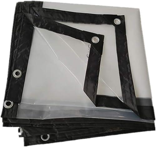 Ioouooi Bache- Bache imperméable Transparente, Couverture en Plastique de poncho-120g   m2 imperméable de Rideau en Pluie de Balcon de Tissu d'isolation en Plastique