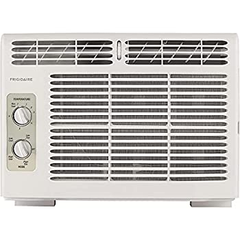 FRIGIDAIRE 5,000 BTU 115V Window-Mounted Mini-Compact Air Conditioner with Mechanical Controls White