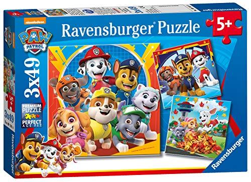 Ravensburger - Puzzle Paw Patrol, pack de 3 x 49 piezas (05048)