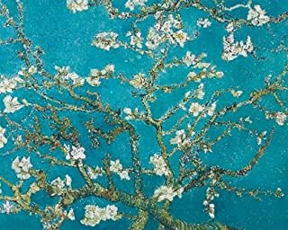 Vincent Van Gogh Turquoise Almond Branches in Bloom Mini Art Poster 20 x 16 inches