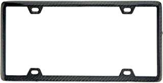 BLVD-LPF OBEY YOUR LUXURY  100% Real Black Carbon Fiber License Plate Frame Slim 4 Holes With Matching Screw Caps - 1 Frame