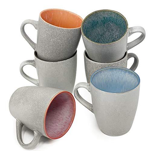 BTaT- Coffee Mugs, Set of 6, 12 oz(350ml), Mugs, Coffee Cups, Mugs for Coffee, Coffee Mug Set, Mug Set, Large Coffee Mugs, Coffee Cups Set, Ceramic Coffee Mug, Coffee Cup Set, Coffee Mugs Set