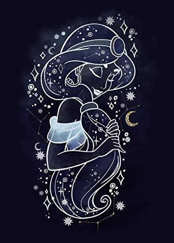 Komar Cuadro Decorativo de Disney Jasmine Stars   Habitación de habitación de bebé, impresión artística   sin Marco   WB084-50 x 70 cm   Tamaño: 50 x 70 cm (Ancho x Alto)