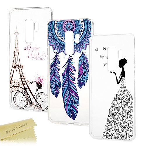 S9+ Hülle Case Mavis's Diary Samsung Galaxy S9 Plus Handyhülle Cover Transparent Tasche Silikon TPU Soft Skin Schale Durchsichtige Schutzhülle Kratzfest Stoßdämpfend Handytasche Bumper Rückhülle*3-S2