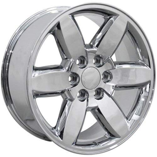OE Wheels LLC 20 inch Rim Fits Chevy Silverado Wheel CV94 20x8.5 Chrome Wheel Hollander 5420
