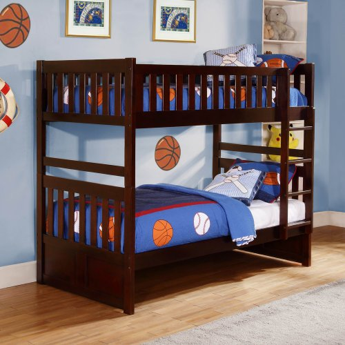 Homelegance Rowe Twin/ Twin Bunk Bed In Dark Cherry - Twin/ Twin W/ Storage