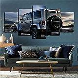 mmkow Leinwand Poster Wand 5 Stück Auto Jeep Wrangler