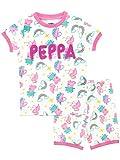 Peppa Pig Pijamas de Manga Corta para niñas Unicornio Blanco 2-3 Años