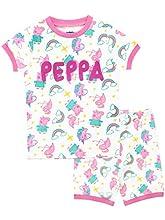 Peppa Pig Pijamas para Niñas Unicornio Blanco 2-3 años