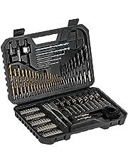 Bosch Set de brocas y puntas de atornillar de 103 unidades Titanium, madera, piedra y metal, accesorios para herramientas de perforación y atornillado