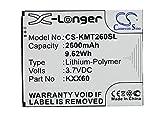 CS-KMT260SL Batería 2600mAh Compatible con [KAZAM] Trooper 2 X6.0, Trooper 6.0, Trooper2 6.0 sustituye KXX60, KXX60-FHABC009886