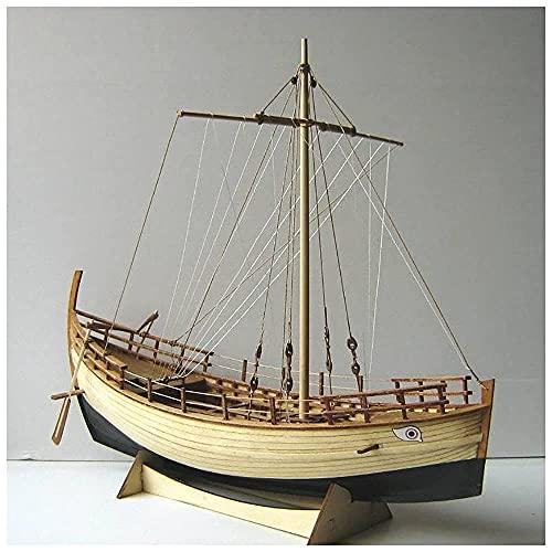 HYLK Lllunimon Grekland antika skeppet trämodell 1/43 Kyrenia handlare skeppssats hel ribb monteringsmodell segelbåt byggset