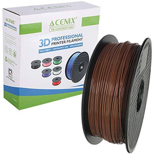 ACENIX Brown PLA 3D Printer Filament, 1 kg Spool, 1.75 mm, Dimensional Accuracy +/- 0.03 mm 1KG [2.2 LBS] Spool 3D Filament for 3D Pens & 3D Printers