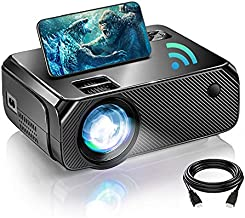 BOWMAKER TECH WiFi Mini Projector, Portable Projector for Outdoor Movies Full HD 1080P Supported, Outdoor Movie Projector for TV Stick, DVD Player, Laptop, Video Games, HDMI