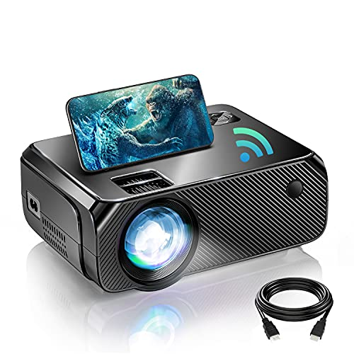 BOWMAKER TECH WiFi Mini Projector, Portable Projector for Outdoor Movies Full HD 1080P Supported,...