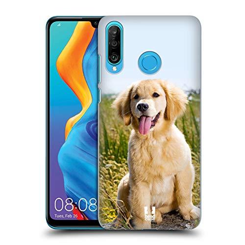 Head Case Designs Cucciolo di Golden Retriever Razze Famose di Cani Cover Dura per Parte Posteriore Compatibile con Huawei P30 Lite