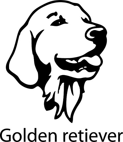 Aufkleber/Wandtattoo Hund - Golden retriever --- 20cm --- Farbauswahl verfügbar!
