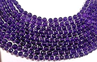 Jewel Beads Natural Beautiful jewellery AFRICAN AMETHYST Faceted Round Balls Beads, Faceted Gemstones, 7-10mm full 16 Inches Strand.Code:- JBB-14286