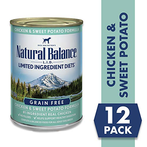Natural Balance Limited Ingredient Diets Chicken & Sweet Potato Formula Wet Dog Food, 13 Ounces...