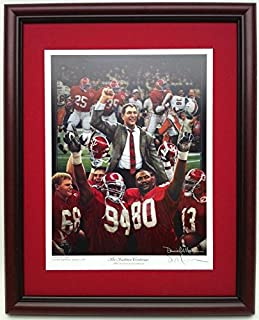 Alabama Football 1992 National Championship Framed Print The Tradition Continues by Daniel Moore