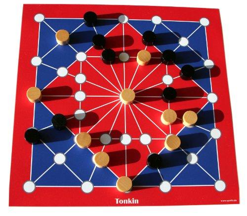 Spieltz 50623: Strategiespiel Tonkin als Reisespiel / Strandspiel. Spielplan auf LKW Plane, abwaschbar + rollbar, verpackt in eine handliche Rolle.