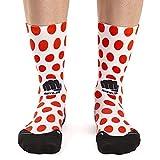 Calcetines de ciclismo RIDEFYL, caña alta, forma anatómica, Reds M-L