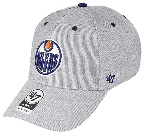 47Brand Edmonton Oilers Adjustable Cap MVP NHL Storm Cloud Charcoal - One-Size