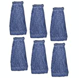 KLEEN HANDLER Heavy Duty Commercial Mop Head Replacement | Wet Industrial Blue Cotton Looped End...