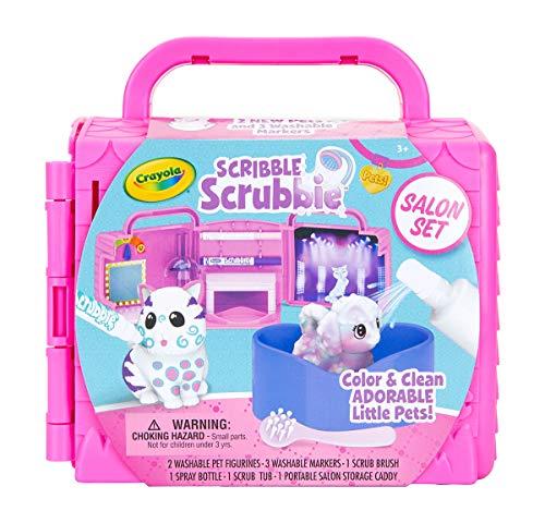 Crayola Scribble Scrubbie Pets Salon Animal Toy Set Age 3+