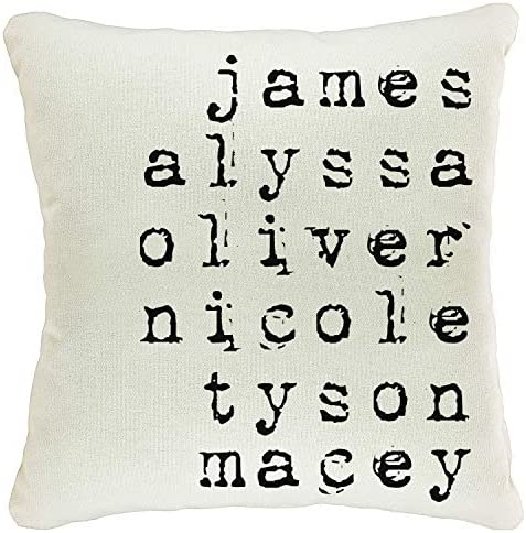 Zexpa Apparel Personalized Throw Pillow Covers for Family Names House D cor Customized Pillow product image