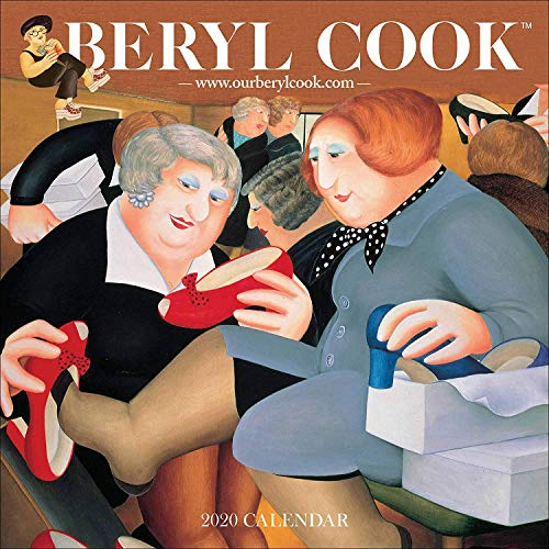 BERYL COOK 2020 - Calendario oficial de pared (30 x 30 cm), diseño de cuadros, color blanco
