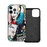Jinfugongmao Compatible con iPhone 12/11 Pro MAX 12 Mini SE X/XS MAX XR 8 7 6 6s Plus Case Suicide Squad Harley Quinn Magic Negro Cajas del Teléfono Cover
