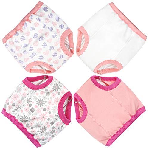 Flyish Baby Trainingshose Kinder Trainingswäsche Kleinkind Töpfchen Trainingshose Baby Unterwäsche Toilettentraining, 2 Jahre, Mädchen-4 Stück