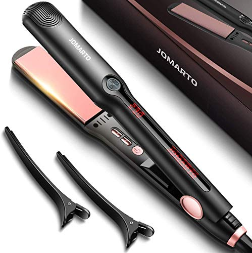 JOMARTO Hair Straightener, 2 in 1 Flat Iron Professional Ceramic Hair...