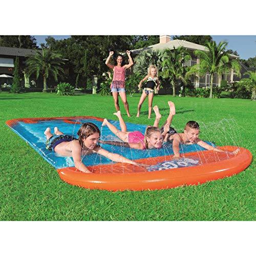 Lgan Tobogan Infantil Exterior Agua,Inyección De Agua Interna Tobogan para Piscina Cama De Agua Juguetes Jardin Agua Tobogan para Piscina Inchable