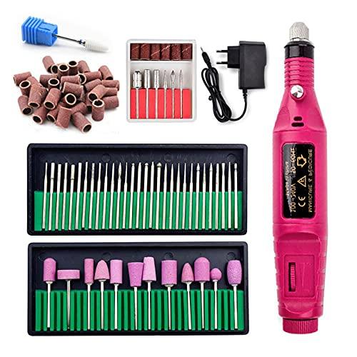 Kit de Uñas 1 Set 1 2W 20000RPM Máquina Profesional de Taladro de uñas eléctrico con cerámica bits de Taladro de uñas Nail Nails Accesorios Herramientas Kit de Manicura (Color : Nail Drill Set)