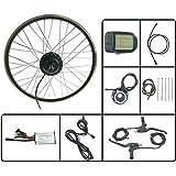 GJZhuan Kit 24V 250W Ebike eléctricos de la conversión de Bicicletas de la Rueda Delantera Motor con KT LCD5 Display 16-28 Pulgadas 700C habló y la llanta,27.5inch LCD Sets