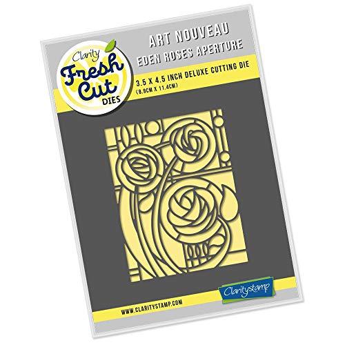 Clarity Stamps Schablone für Jugendstil, Eden Roses