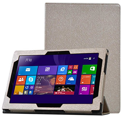 Tutoy Tri-fold Stand PU Lederen Hoesje voor Lenovo Miix3-1030 Tablet