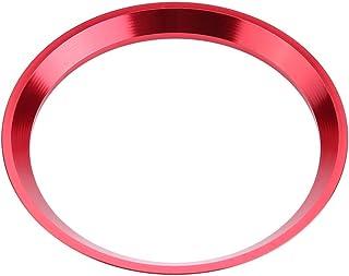Keenso Auto Lenkrad Dekorationsring, Aluminiumlegierung Auto Lenkrad Ring Verkleidung für CLA GLK A Klasse W204 W246 W176 W117 C117(Rot)