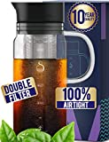 Cold Brew Coffee Maker Iced Coffee Maker Cold Brew Coffee Maker Brewer Ice Glass Stainless Steel Filter Double Mesh Cold Brew Coffee Maker (1000ml)