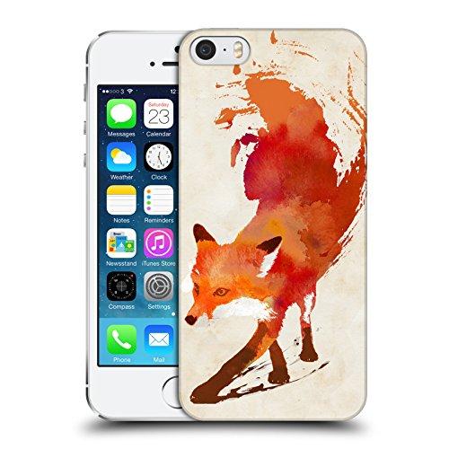 Head Hülle Designs Offizielle Robert Farkas Vulpes Fuchs Harte Rueckseiten Handyhülle Hülle Huelle kompatibel mit Apple iPhone 5 / iPhone 5s / iPhone SE 2016