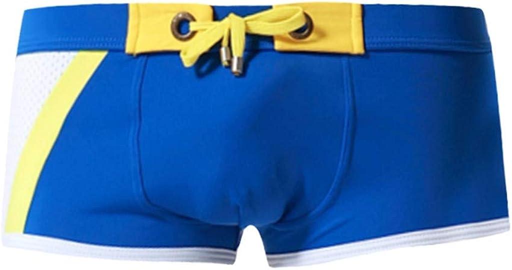 MODOQO Swim Shorts for Men,Casual Brand Stripe Nylon Breathable Quick Dry New Swim Trunks