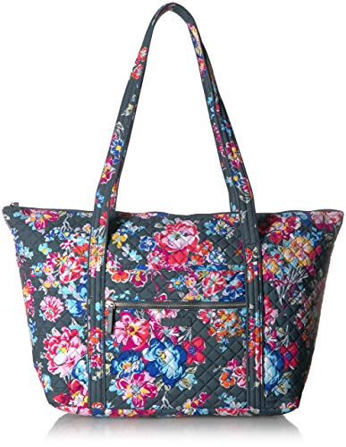 Vera Bradley Women's Signature Cotton Miller Tote Travel Bag, Pretty Posies