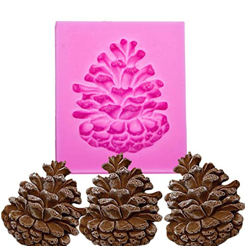 Pine Nuts Shaped 3D Fondant Cake Silicone Mold for Polymer Clay Molds Chocolate Pastry Candy Making Decoration Tools