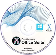 Office Suite Software 2020 Microsoft Word 2019 2016 2013 2010 2007 365 Compatible CD Powered by Apache OpenOffice for PC W...